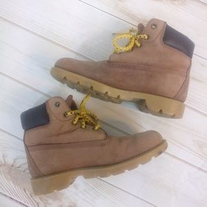 Timberland Leather Waterproof Tan Kids Boots